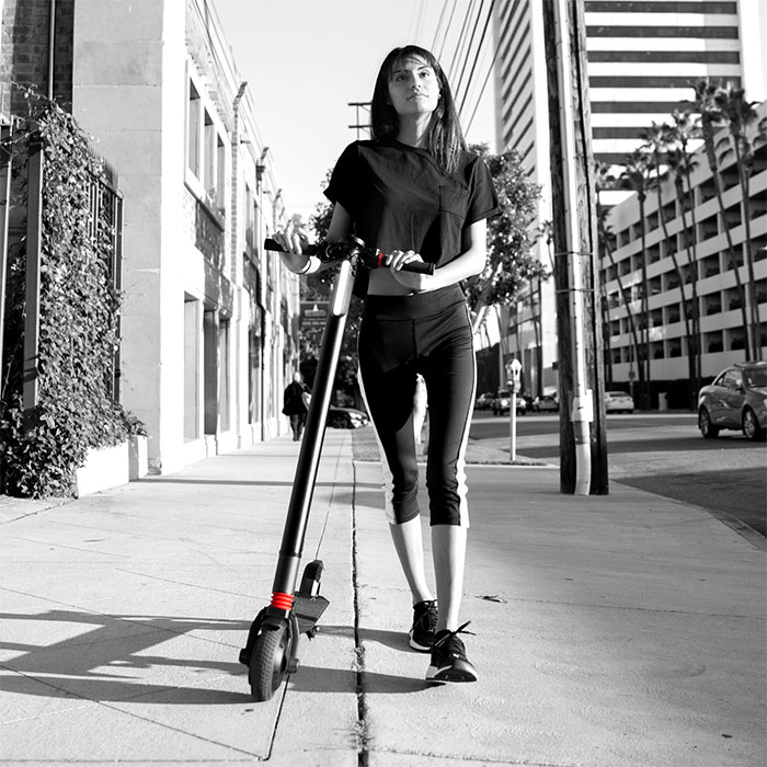 xprit scooter girl walk