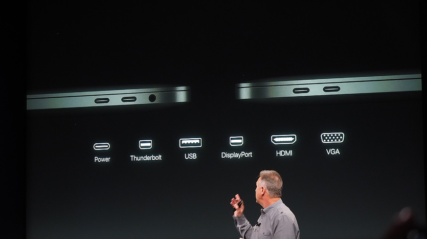 MacBook USB Type-C Slide